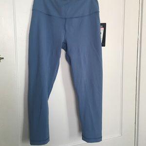 Blue Yoga Leggings NWT medium. 90 Degree by Reflex